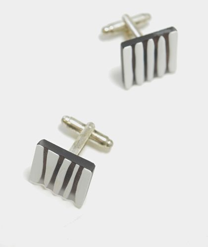 AMP Anne-Mari Pahkala Cufflinks Glass Silver Plated