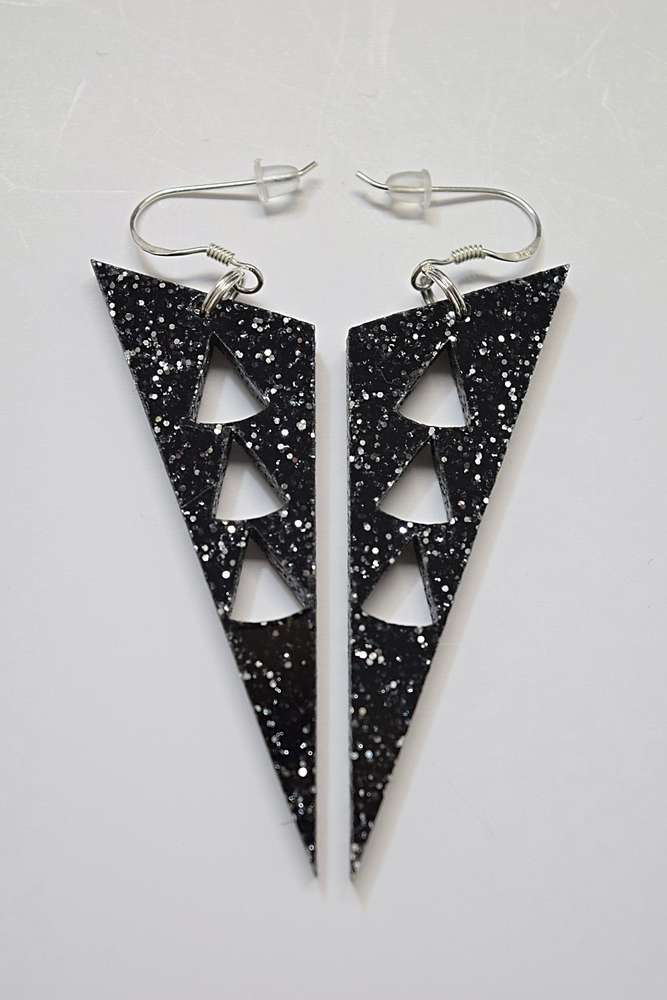 jillyjilly grande circle glitter earrings products