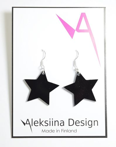 Aleksiina Star The Star Earrings Black
