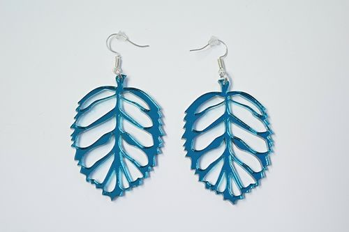 Aleksiina Leaf Earrings Jademirror 5 cm