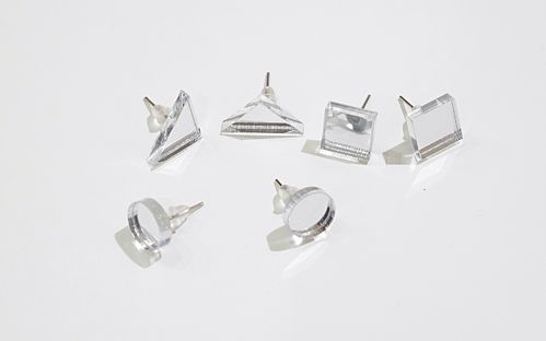 Aleksiina Basic Shape Studs Earrings Silvermirror