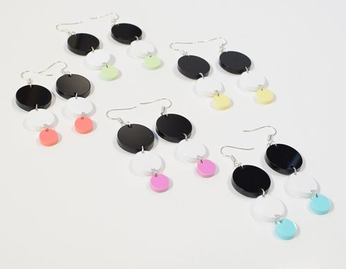 Aleksiina Bubbles Earrings Acrylic