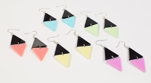 Aleksiina Sharp Earrings Acrylic