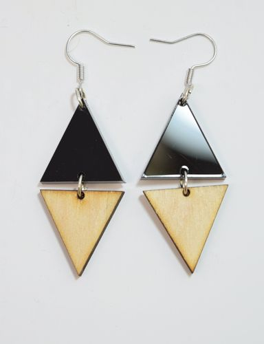 Aleksiina Sharp Earrings Birch Black