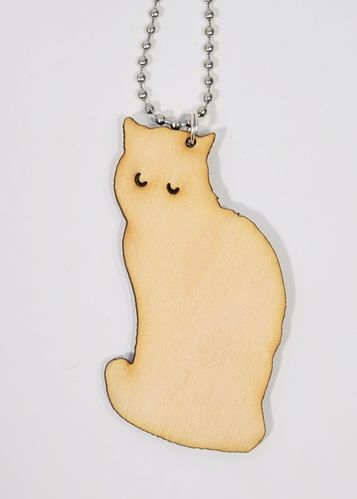 Aleksiina Mörri Cat Pendant Wood