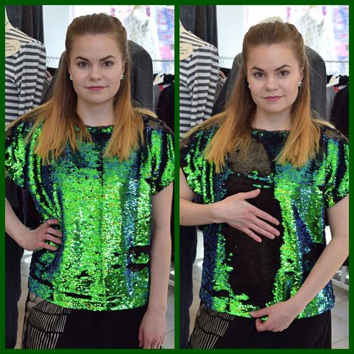 Aleksiina Dragon Scale Sequin Blouse