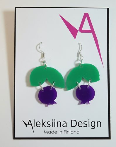 Aleksiina Blueberry Earrings