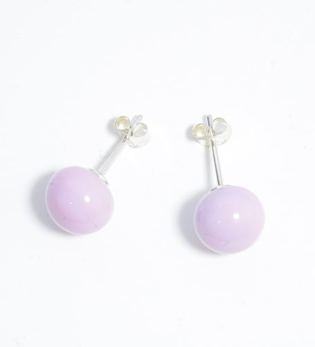 Lillan Helsinki Pompom Stud Earrings Lilac