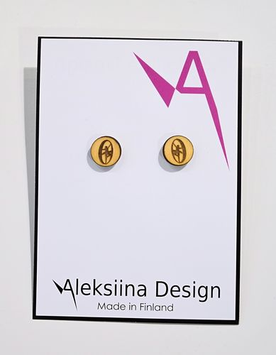 Aleksiina Balance Stud Earrings Wood