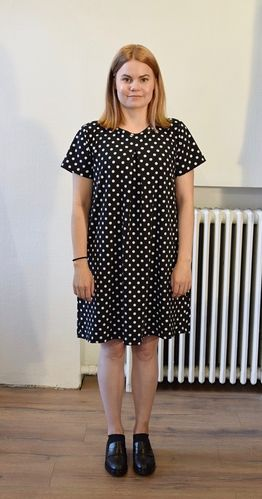 Aleksiina Dots All Over Pleat Dress