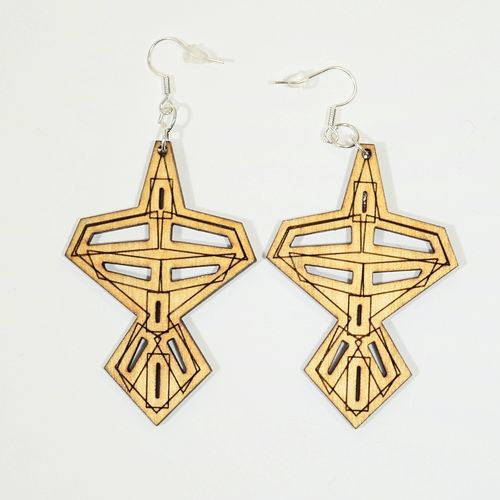 Aleksiina Japon Earrings Wood