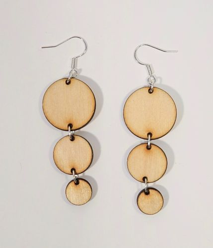 Aleksiina Bubbles Earrings Wood