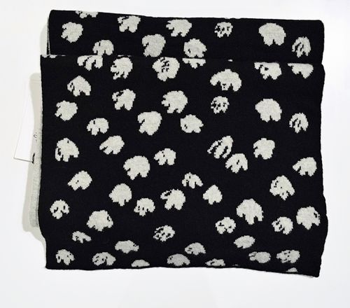 Alina Piu Bouquet Scarf Black/Silver Grey