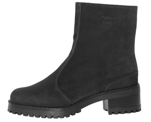Palmroth ankle boot black suede teddy lining