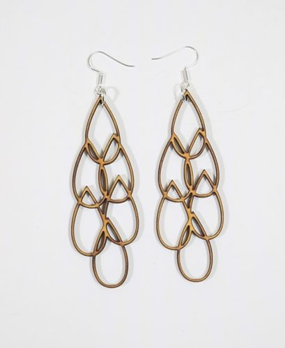 Aleksiina Aqua Multi Earrings Wood