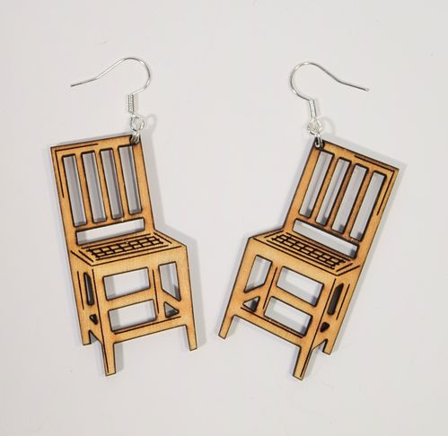 Aleksiina Sit Down Earrings Wood