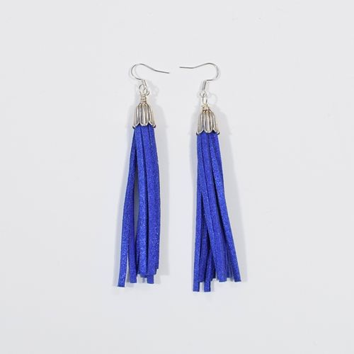 Aleksiina Tassel Earrings Glitter Blue
