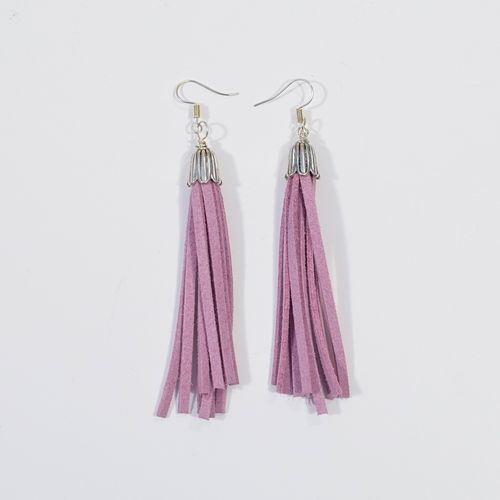 Aleksiina Tassel Earrings Lila