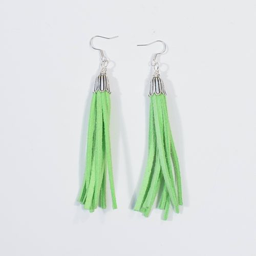 Aleksiina Tassel Earrings Bright Green