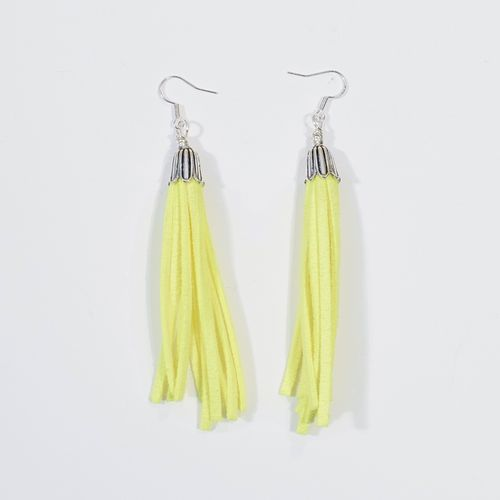 Aleksiina Tassel Earrings Neon Yellow