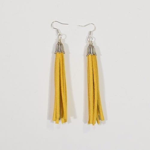 Aleksiina Tassel Earrings Gold Yellow