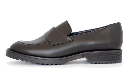 Palmroth loafer black leather 85008 p10v