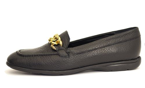 Palmroth loafer with chain black leather 85038 p10m