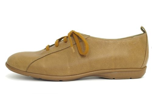 Palmroth shoe with laces beige leather 85031 p40
