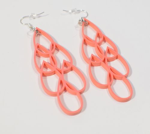 Aleksiina Aqua Multi Earrings Coral