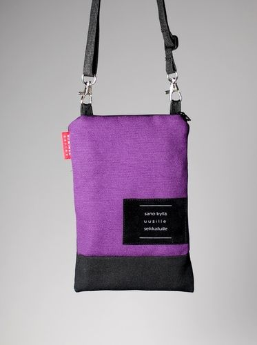 Riiminka Tarina Shoulder Bag with mobile phone pocket purple