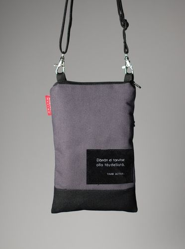 Riiminka Tarina Shoulder Bag with mobile phone pocket grey