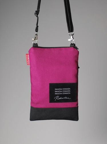 Riiminka Tarina Shoulder Bag with mobile phone pocket pink