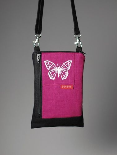 Riiminka Big Sini Shoulder Bag for the mobile phone pink