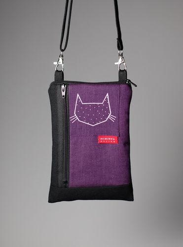 Riiminka Big Sini Shoulder Bag for the mobile phone purple