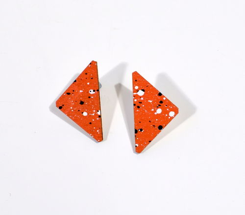 Pramea Stud Earrings Orange