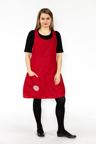 Riiminka Sirkku Dress Linen RED