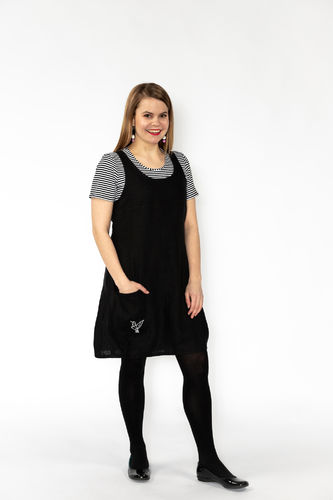 Riiminka Sirkku Dress Linen BLACK