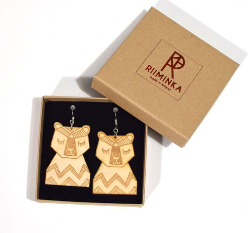 Riiminka Bear Earrings Big