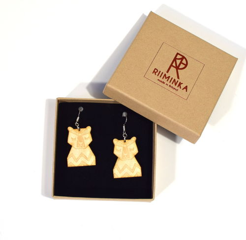 Riiminka Bear Earrings Small