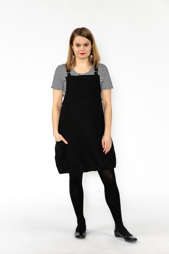 Riiminka Dress Dress Linen BLACK