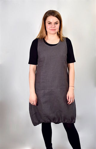 Riiminka Varpu Dress Linen GRAY