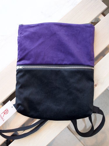 Riiminka Velour Backpack purple