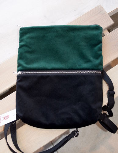 Riiminka Velour Backpack green