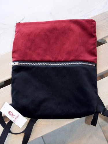 Riiminka Velour Backpack burgundy