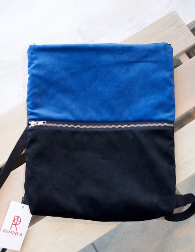 Riiminka Velour Backpack blue
