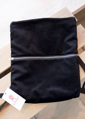 Riiminka Velour Backpack black