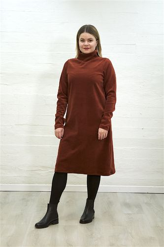 Aleksiina Vienna Velor Dress Rust