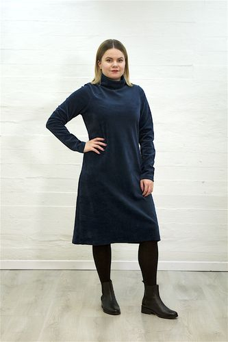 Aleksiina Vienna Velor Dress Dark Blue