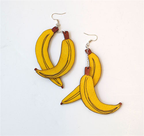 Aleksiina Banana Earrings